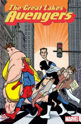 The Great Lakes Avengers Portada alternativa de Mike y Laura Allred