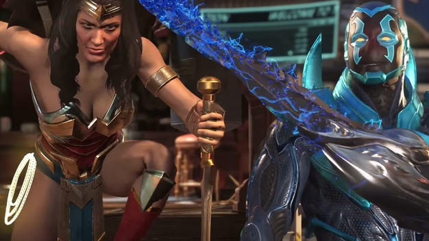 blue beetle wonder woman injustice 2