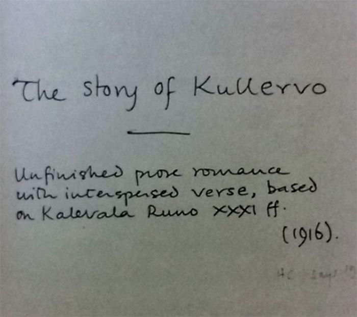 página titular manuscrita Kullervo