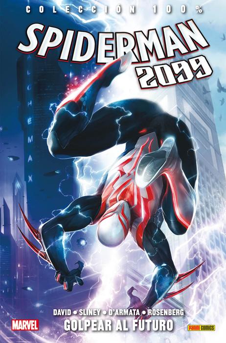 spiderman 2099 golpear futuro panini