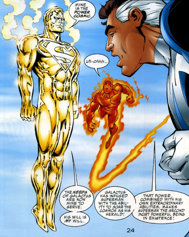 8 curiosidades entre personajes Marvel y DC 08 Superman heraldo de galactus