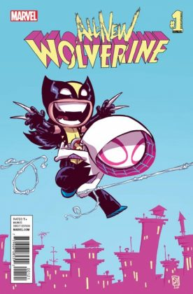 All-New Wolverine Annual Portada alternativa de Skottie Young