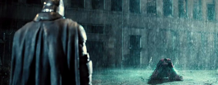 Batman v Superman - lluvia