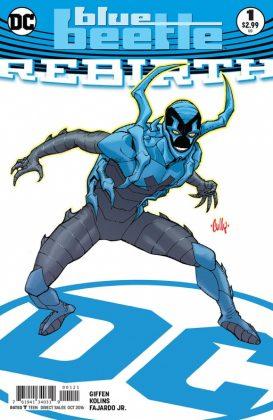 Blue Beetle Rebirth Portada alternativa de Cully Hamner