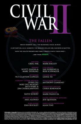 Civil War II The Fallen Página interior (1)