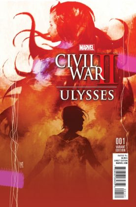 Civil War II Ulysses Portada alternativa de Stefano Casselli
