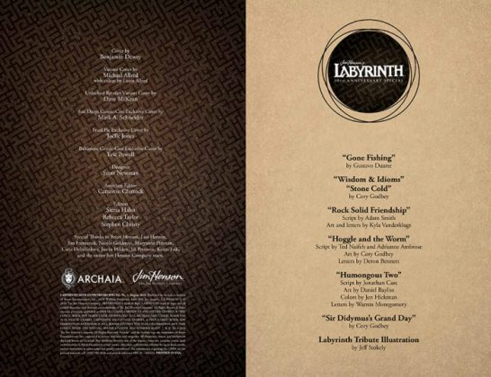 Jim Henson's Labyrinth 30th Anniversary Special Página interior (1)