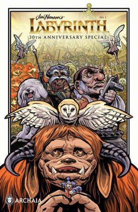Jim Henson's Labyrinth 30th Anniversary Special Portada principal de Benjamin Dewey