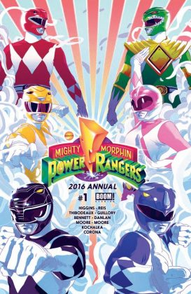 Mighty Morphin Power Rangers 2016 Annual Portada principal de Goni Montes