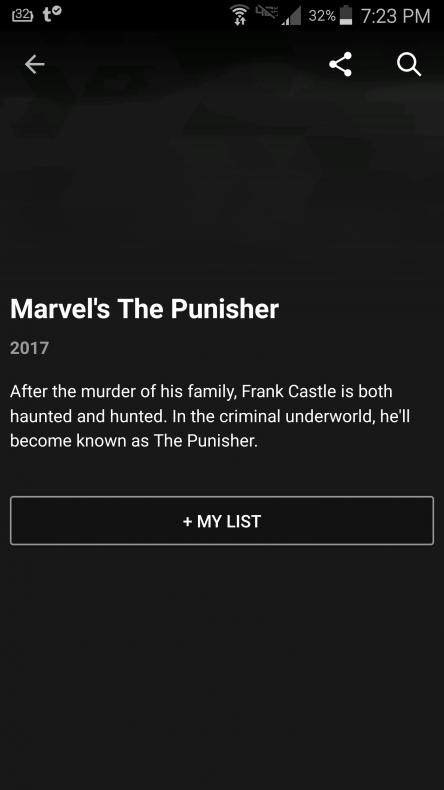 Netflix The Punisher anuncio