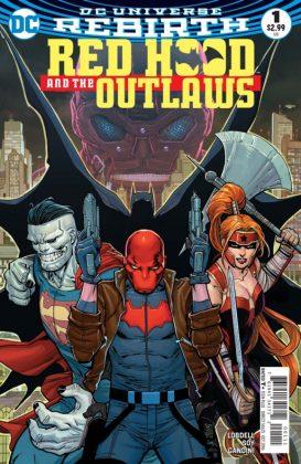 Red Hood and the Outlaws Portada principal de Giuseppe Camuncoli y Cam Smith