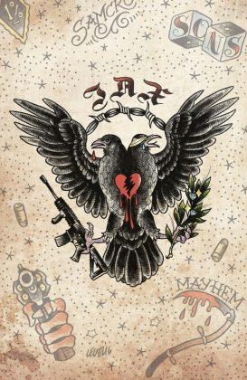 Sons of Anarchy Redwood Original Portada alternativa de Brian Level