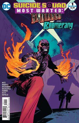 Suicide Squad Most Wanted El Diablo and Boomerang Portada principal de Mike Huddleston