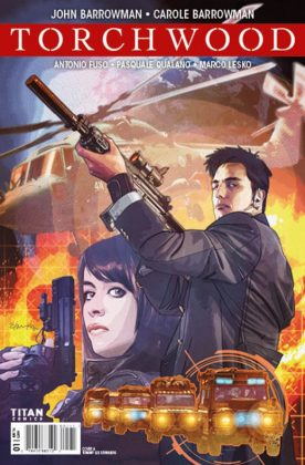 Torchwood Portada principal de Tommy Lee Edwards