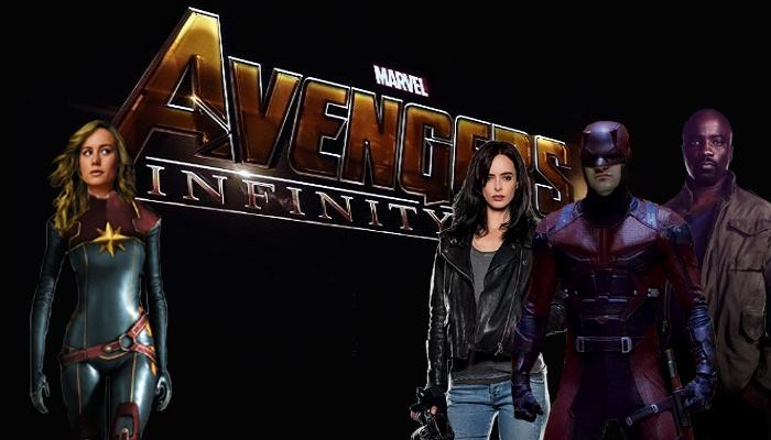 Avengers: Infinity War - Captain Marvel - Jessica jones - Daredevil - Luke Cage