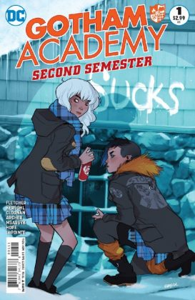 Gotham Academy Second Semester Portada principal de Fiona Staples