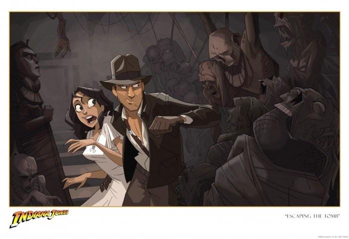 Indiana-Jones-escaping-the-tomb-diseño-conceptual