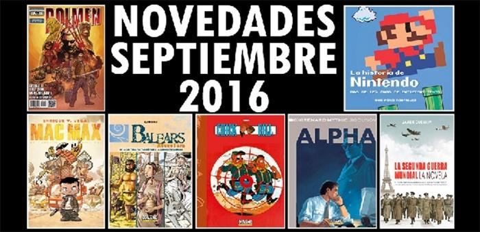 Novedades Dolmen septiembre 2016