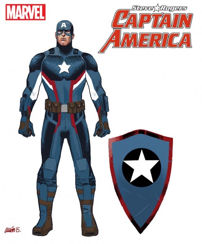 Daniel Acuña - Captain America - diseño traje