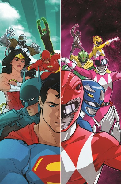 Justice League - Power Rangers portada