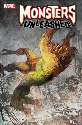Monsters Unleashed 4 Monster vs Hero Sienkewicz Variant