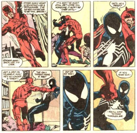 Spiderman y DD tienen sus más y sus menos