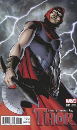 The Unworthy Thor 1 Cassaday Variant