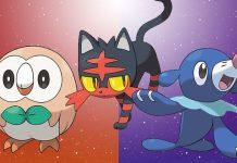 Starters Pokémon Sol Luna