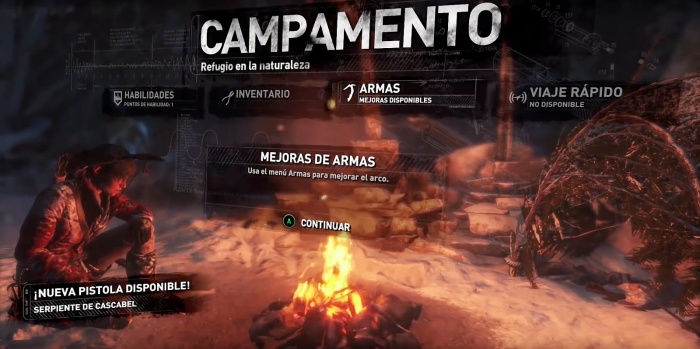 Rise of the Tomb Raider campamento