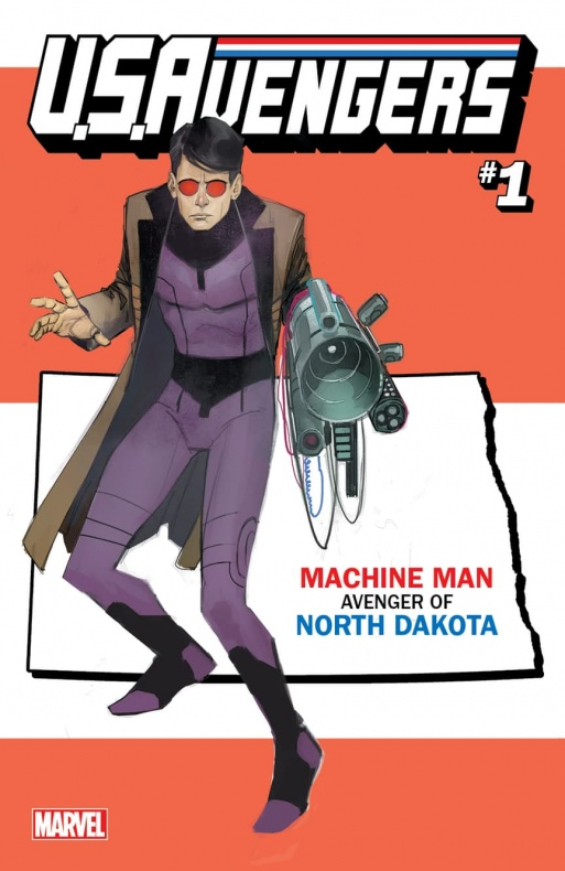 US Avengers Machine Man variant