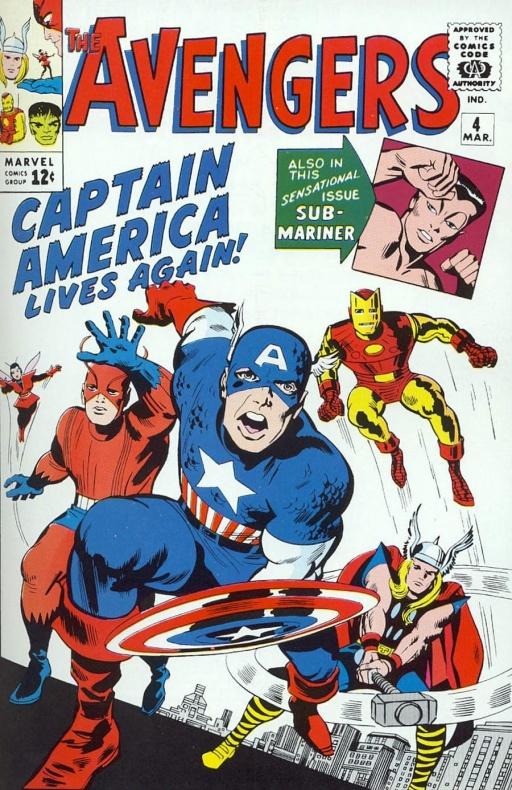Portada original Los Vengadores 4