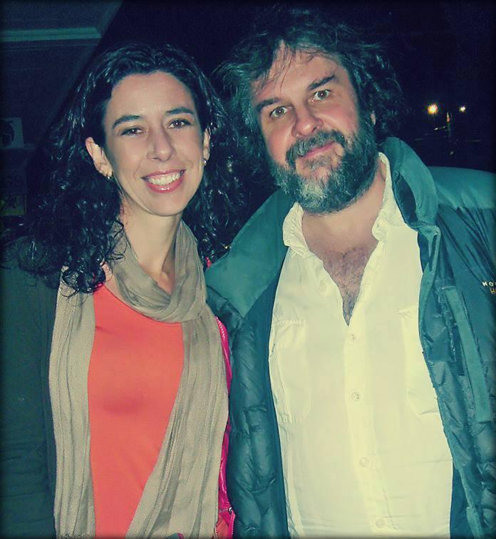 Carolina Jiménez con Peter Jackson