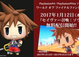 Sora en World of Final Fantasy