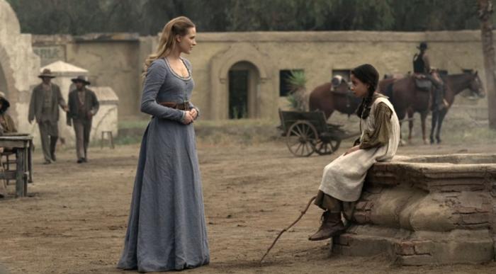 Westworld - Dolores y la hija de Lawrence