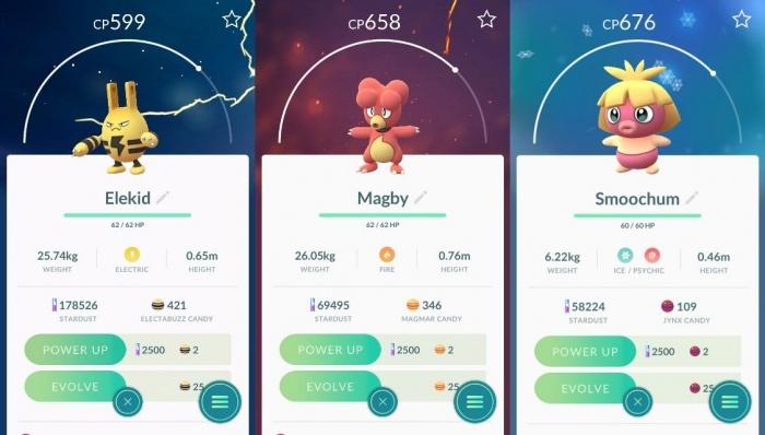 Pokémon GO Bebés
