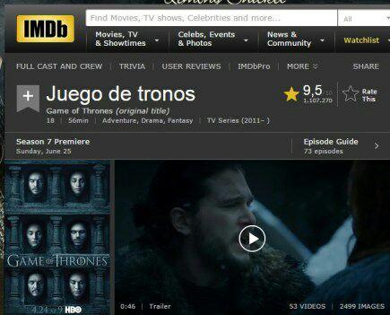 Juego de Tronos - fecha temporada 7 - IMDb