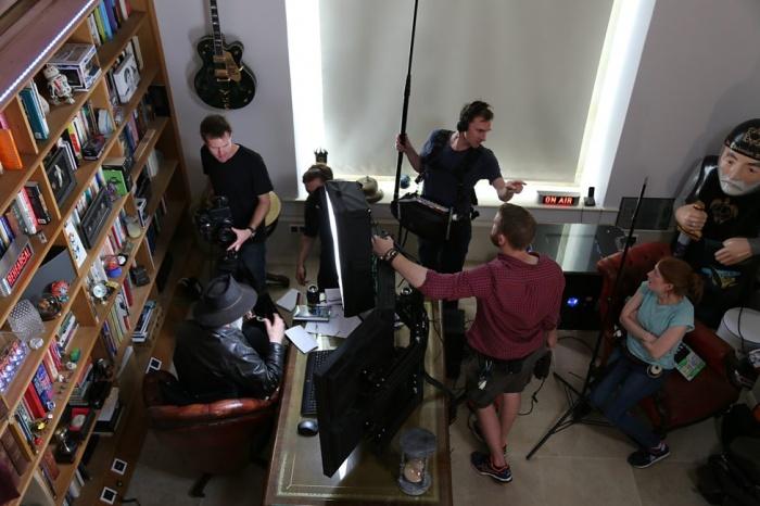 Rodaje 'Back in Black', documental sobre Terry Pratchett