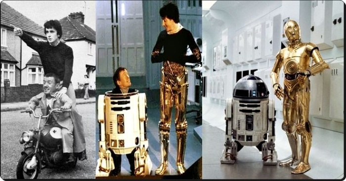 Anthony Danniels y Kenny Baker