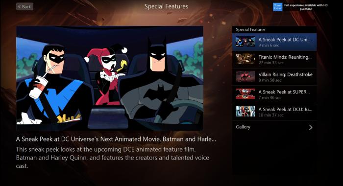 Batman and Harley Quinn itunes