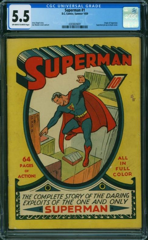 Superman núm. 1 - CGC 5.5