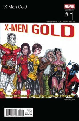 X Men Gold 1 Davis Hip Hop Variant copia