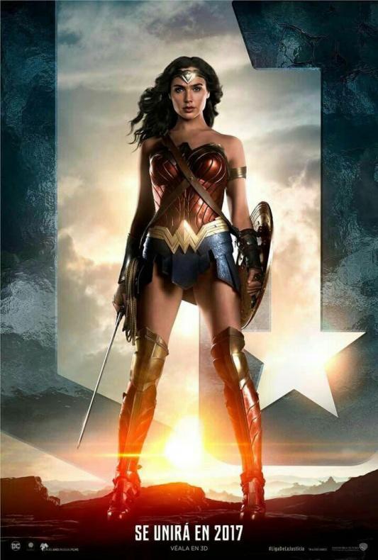 Wonder Woman - Liga de la Justicia - póster