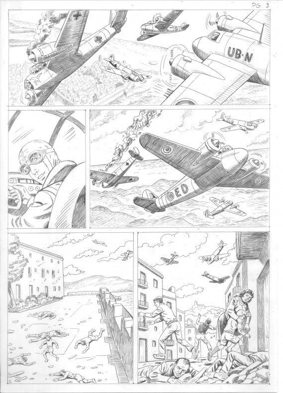 Días oscuros lápices página 3