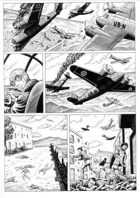 Días oscuros tintas página. 3