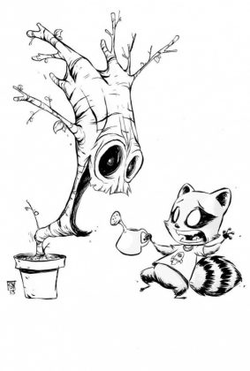 I Am Groot 1 Young Black White Variant