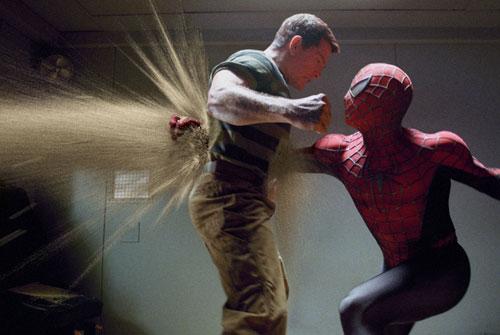 spiderman3 contra hombre de arena