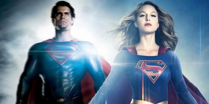 Henry Cavill and Melissa Benoist Superman Supergirl