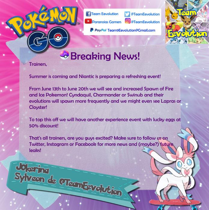 Además 'Pokémon Go' incluirá un PVP, Pokémons legendarios y un nuevo evento