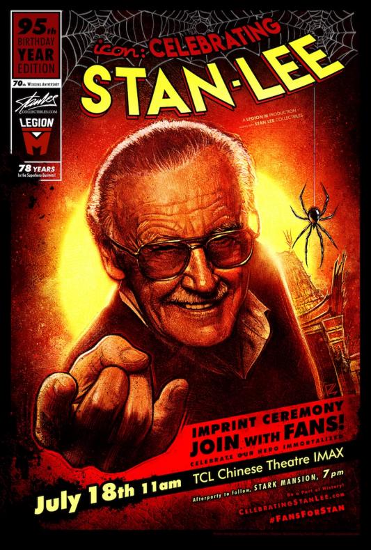 Stan Lee estampará sus huellas en cemento frente al teatro IMAX TCL Chino en Hollywood 002