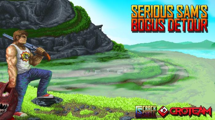 'Serious Sam Bogus Detour' un juego arcade y con vista cenital de Devolver Digital